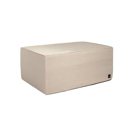 Vetsak Hocker im Freien gratis beige Polyester L 90x58x40cm