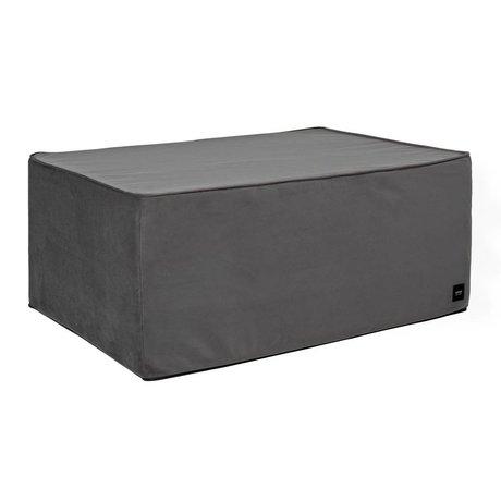 Vetsak Hocker Velvet dark gray velvet L 90x58x40cm