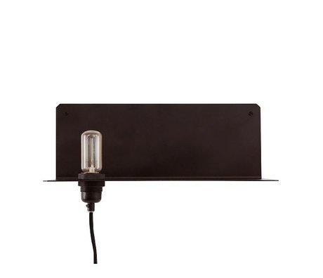 Frama Wandlamp 90° wall zwart metaal 40x15x15cm