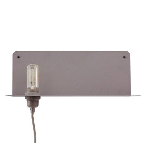 Frama Wandlamp 90° wall grijs metaal 40x15x15cm