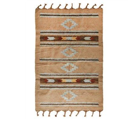 Madam Stoltz Floor cladding multicolor wool 120x180cm