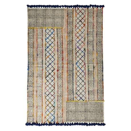 Madam Stoltz Teppich Mehrfarben Baumwolle 120x180cm