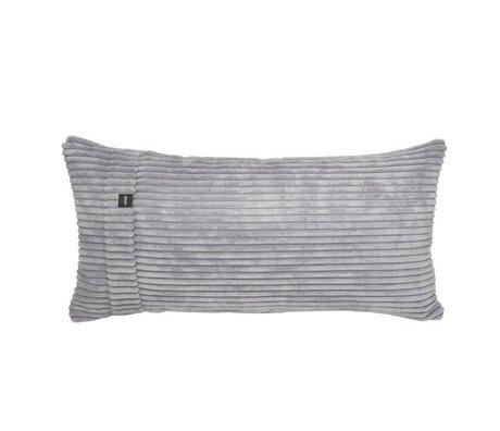 Vetsak Cord Kissen grau Velours gerippter Samt 60x30cm