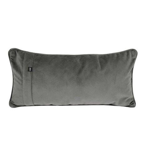 Vetsak Ornamental cushion Velvet dark gray velvet 60x30cm