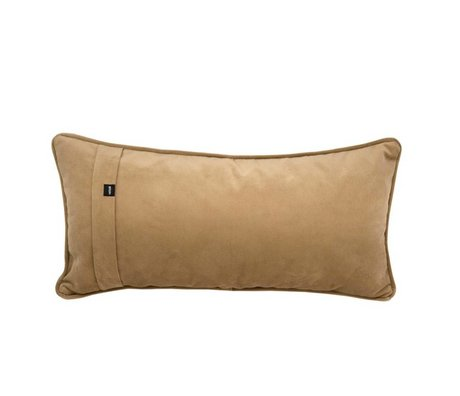 Vetsak Ornamental cushion Velvet caramel brown velvet 60x30cm