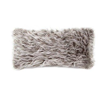 Vetsak Ornamental cushion Flokati gray polyester 60x30cm