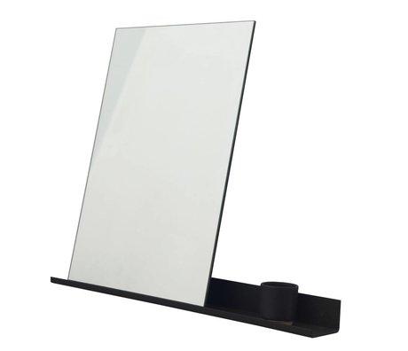 Frama Spiegel Shelf schwarzem Aluminium 70x90cm