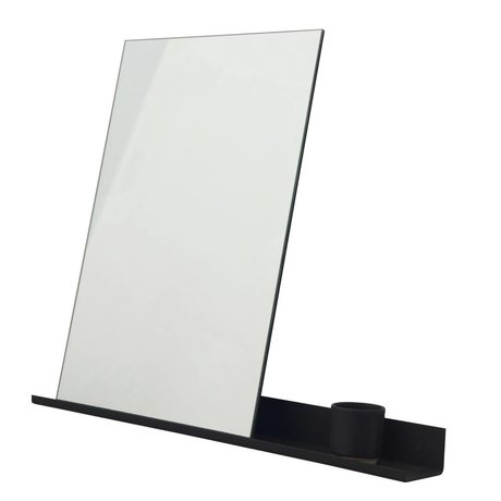 Frama Mirror Shelf black aluminum 70x90cm