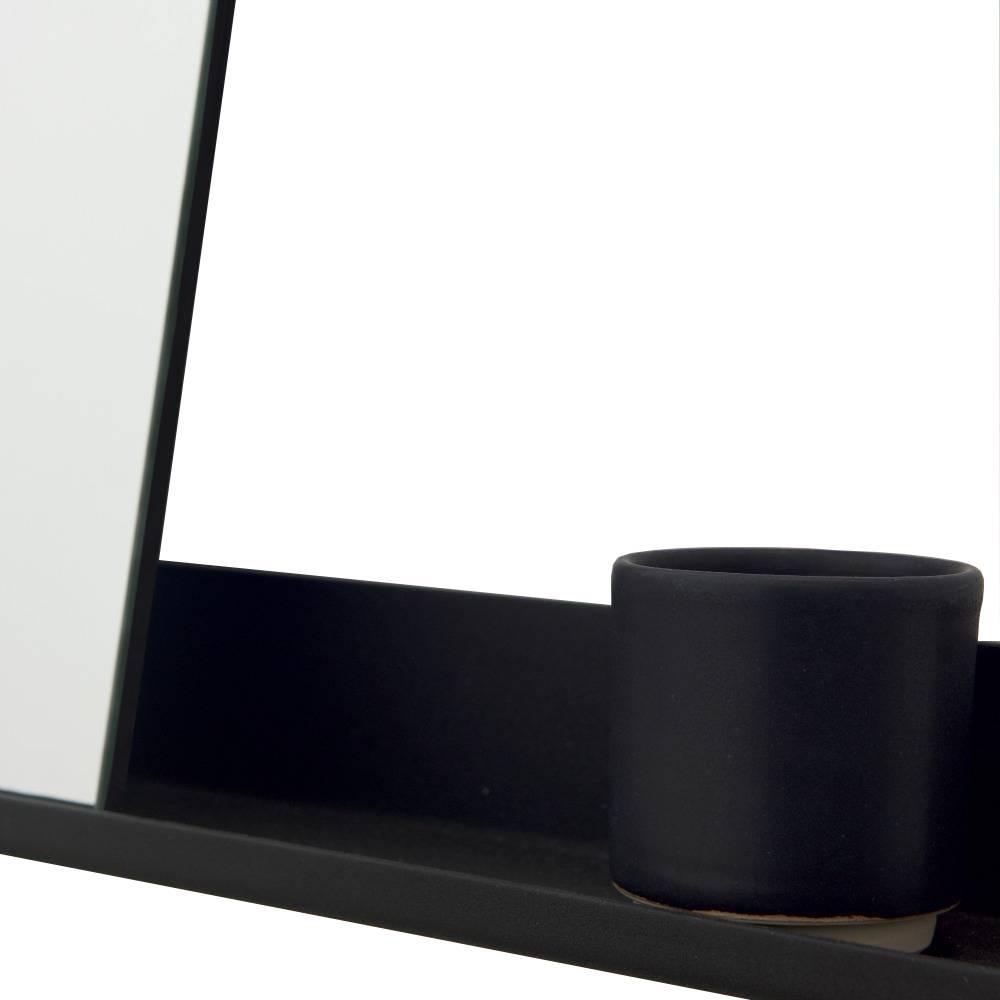 frama miroir plateau 70x90cm en aluminium noir wonen met lef. Black Bedroom Furniture Sets. Home Design Ideas