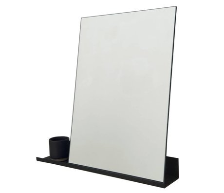Frama Mirror Shelf black aluminum 50x50cm