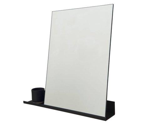 Frama Spiegel Shelf schwarzem Aluminium 50x50cm