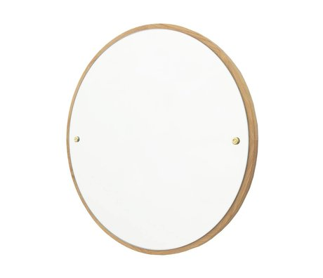 Frama Mirror CM brown oak wood Ø60cm