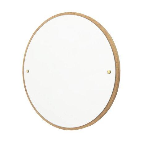Frama Spiegel CM braun Eichenholz Ø60cm