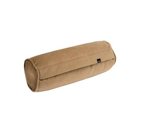Vetsak Coussin velours Noodle caramel velours brun 42xØ16cm