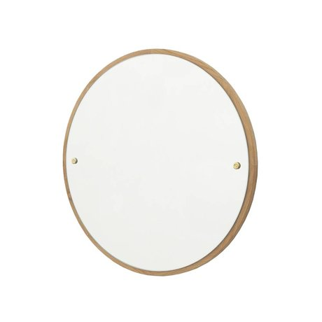 Frama Mirror CM brown oak wood Ø40cm