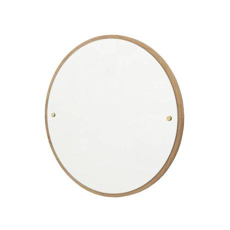 Frama Mirror CM brown oak wood Ø40cm