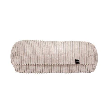 Vetsak Kissen Noodle Cord Samt beige gerippter Samt 42xØ16cm