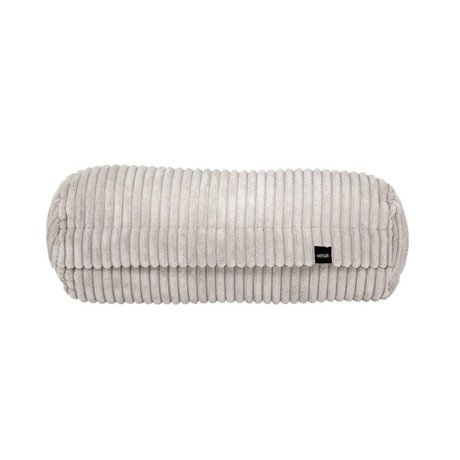 Vetsak Cushion Noodle Cord Velours Platinum Ribbed Velvet 42xØ16cm