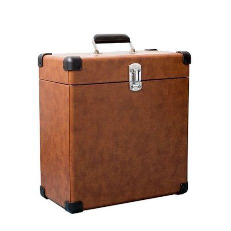 Crosley Radio Crosley portable wooden case brown leather 38,1x38,1x17,8cm