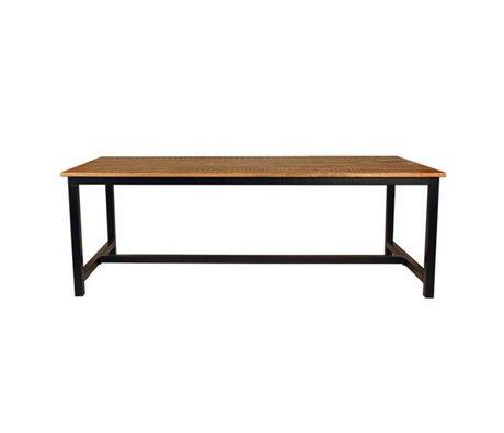 LEF collections Salle à manger bois métal noir brun brussel en deux tailles