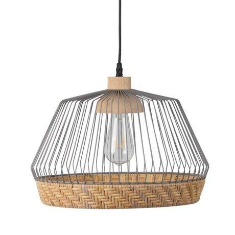 Zuiver Hanglamp Birdy wide, metaal grijs Ø31x27x150cm