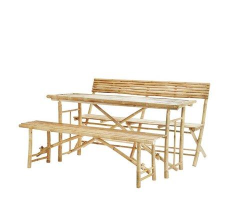 Madam Stoltz Gartenmöbel natürlichen braunen Bambus