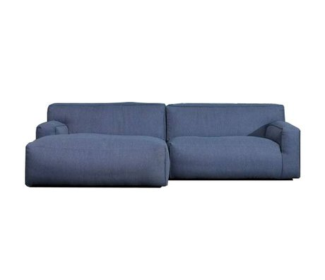 FEST Amsterdam Bank 'Clay' dark blue Sydney80 1.5-seater and longchair left or right