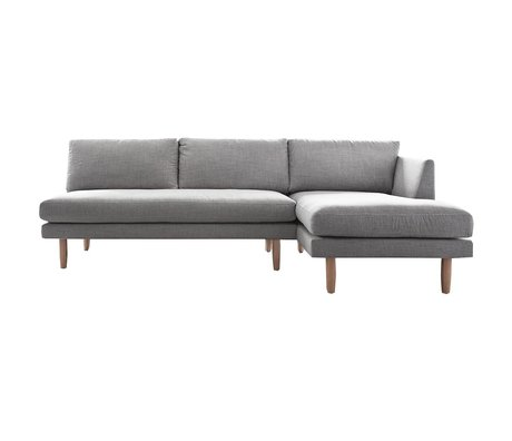 I-Sofa Corner sofas right Sem light gray textile wood 275x148x90cm