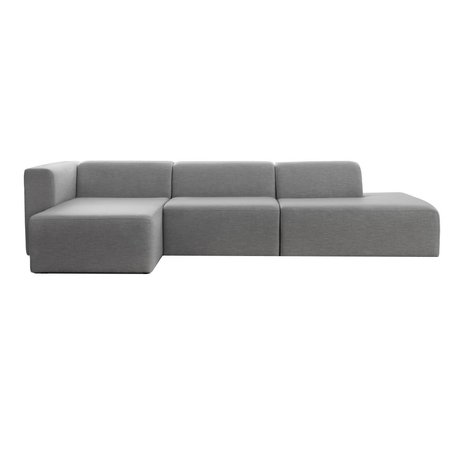 I-Sofa Corner sofas links Omni light gray textile 318x140x70cm