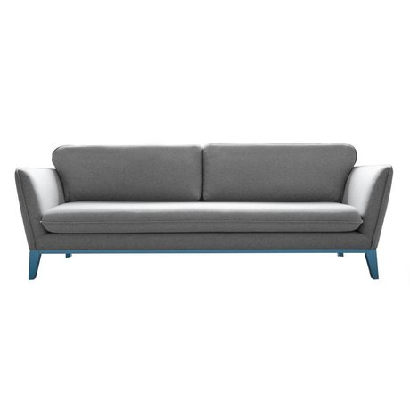 I-Sofa Bank Louka light gray textile metal 206x90x90cm