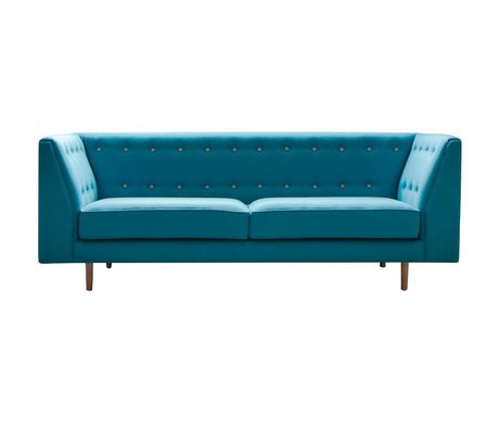 I-Sofa Bank Levi turquoise blue fabric timber 209x83x78cm