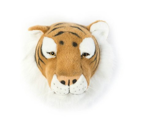 Wild and Soft tigre animal Felix brun textile 27x22x23cm