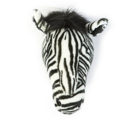 Wild and Soft zèbre animal Daniel monochrome textile 34x19x30cm