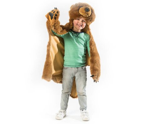 Wild and Soft Disguise Bear light brown textile 106x103x19cm