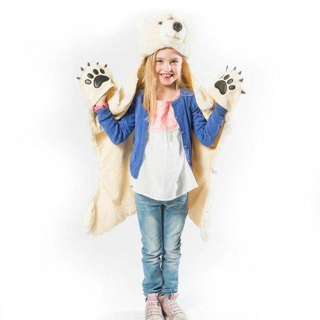 Wild and Soft Disguise Polar Bear White Textile 101x126x20cm
