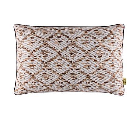 POM Amsterdam Gewebte Kissen Ikat Textilweißbronze 40x60cm