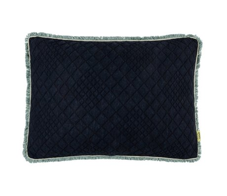 POM Amsterdam Sierkussen Denim Dark blauw zwart textiel 40x60cm