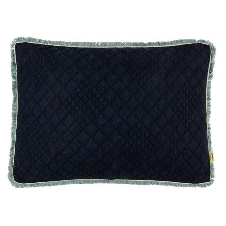 POM Amsterdam Kissen Denim dunkelblau schwarz Textil 40x60cm