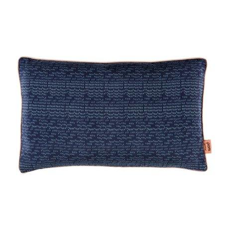 POM Amsterdam Sierkussen Colourdrops blauw textiel 30x50cm