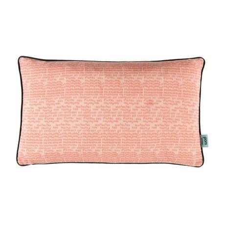POM Amsterdam Coussin couleur gouttes 30x50cm textile rose corail