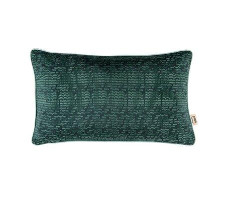POM Amsterdam Couleur Coussin gouttes 30x50cm textile vert