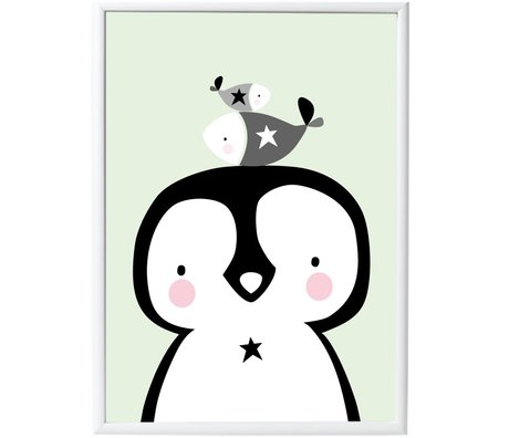 A Little Lovely Company Poster Penguin & Co paper 50x70cm