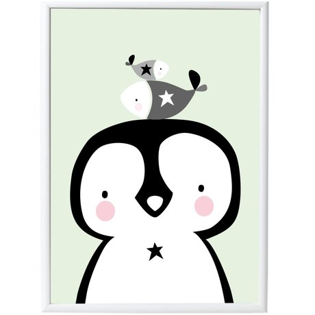 A Little Lovely Company Poster Pinguin & Co Papier 50x70cm