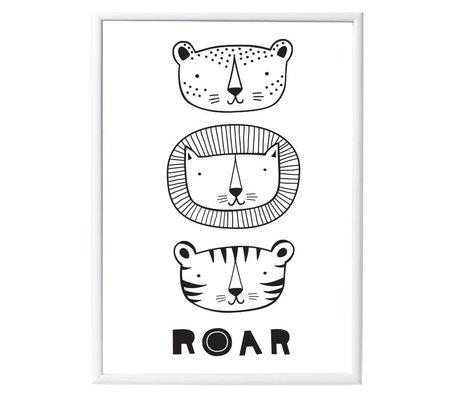 A Little Lovely Company Roar affiche 50x70cm papier