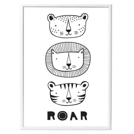 A Little Lovely Company Poster Roar papier 50x70cm