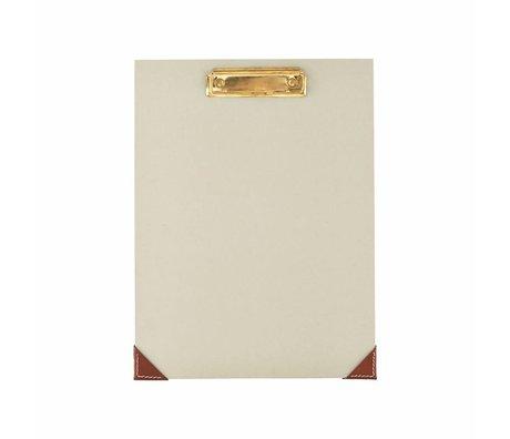 Housedoctor Presse-papiers papier vert cuir gris clair 24x32cm