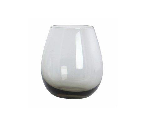 Housedoctor Glaskugel-graues Glas, h: 10 cm