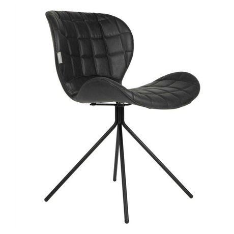Zuiver Dining chair OMG LL black imitation leather 51x56x80cm