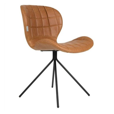Zuiver Dining chair OMG LL camel brown imitation leather 51x56x80cm