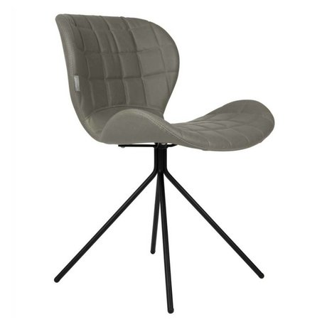 Zuiver Dining chair OMG LL gray imitation leather 51x56x80cm
